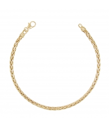 Bracelet Or Jaune Maille Palmier - Femme