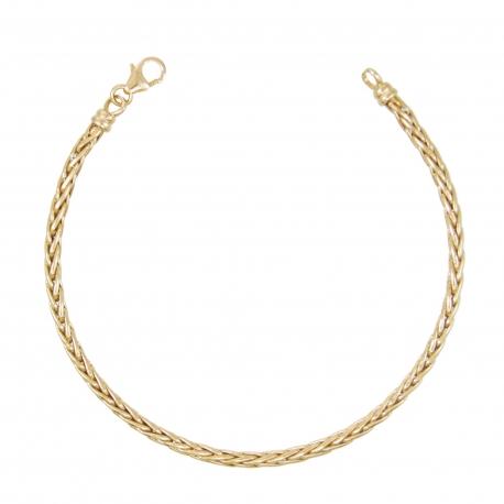 Bracelet Femme Or Jaune - Maille Palmier