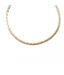 Collier Femme Maille Haricot - Or Jaune