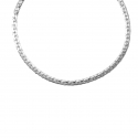 Collier Femme Maille Haricot - Or Blanc
