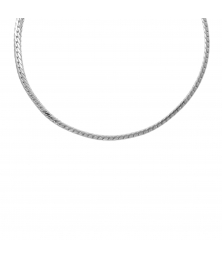 Collier Femme Maille Anglaise - Or Blanc