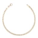 "Bracelet Or Jaune Maille Palmier ""Plate"" - Femme"