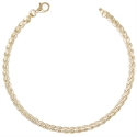 "Bracelet Maille Palmier ""Plate"" - Or Jaune - Femme"