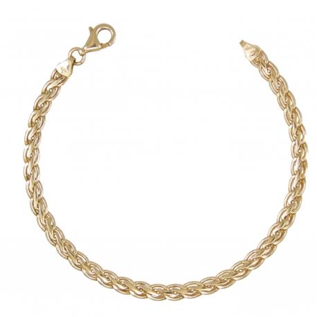 "Bracelet Femme Or Jaune - Maille Palmier ""Plate"""